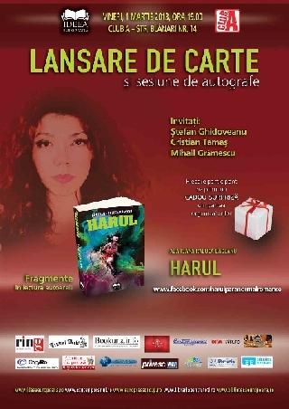 Lansare de carte - Harul (Ada Ioana Raluca Băceanu)