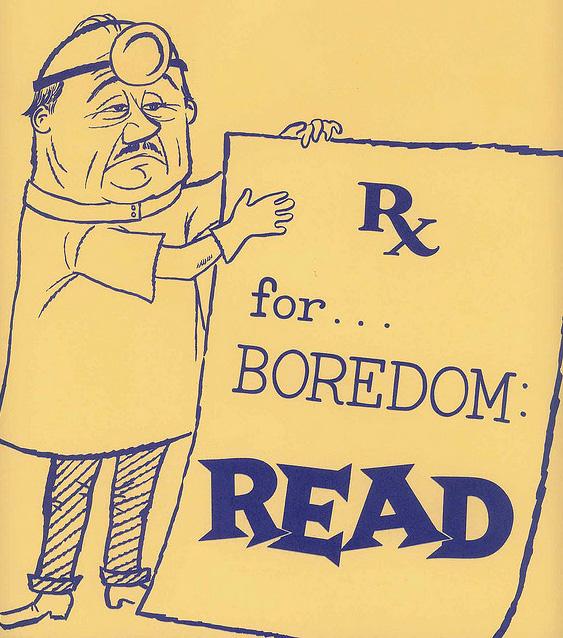vintage ad boredom