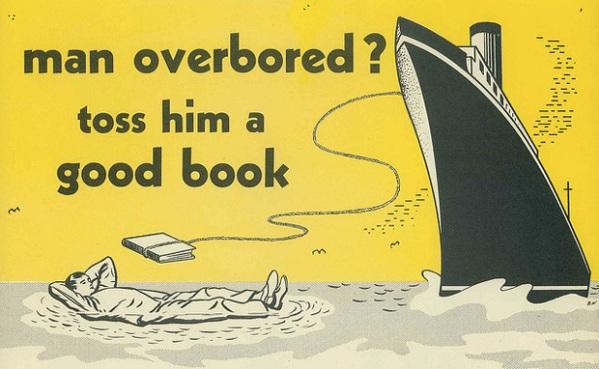 vintage ad man overboard