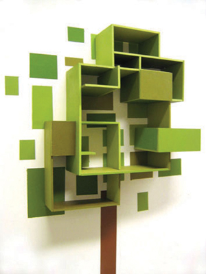 abstract squares bookshelf