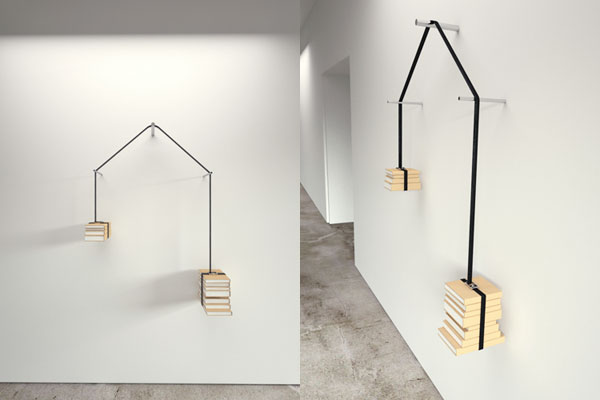 Read-Unread Bookshelf, designed by Niko Economidis